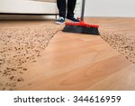 high angle view of broom... | Shutterstock . vector #344616959