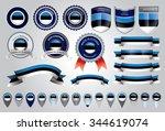made in estonia seal  estonian...   Shutterstock .eps vector #344619074