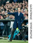 Small photo of NETHERLANDS, ROTTERDAM - October 28th 2015: at the De Kuip stadium during the KNVB Beker match Feyenoord against Ajax , Ajax trainer coach Frank de Boer
