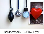 blood pressure meter medical... | Shutterstock . vector #344624291