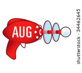 August Calendar Month Icon On...