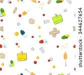 seamless pattern ... | Shutterstock .eps vector #344627654