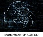 human tangents series....   Shutterstock . vector #344631137