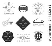 tailoring  sewing logos  labels ... | Shutterstock .eps vector #344632661