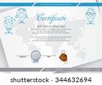 Education Certificate. Blue...