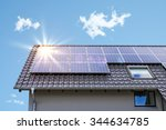 photovoltaic panels on the roof | Shutterstock . vector #344634785