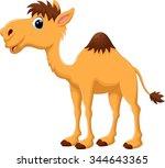 illustration of cute camel... | Shutterstock .eps vector #344643365