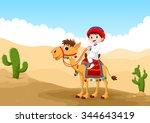 Illustration Of Arab Boy Ridin...