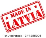 made in latvia rubber stamp | Shutterstock .eps vector #344655005