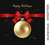 greeting card with golden... | Shutterstock .eps vector #344657504