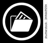 document folder vector icon....   Shutterstock .eps vector #344669054