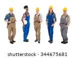 full length portrait of multi... | Shutterstock . vector #344675681