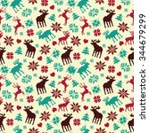 christmas seamless pattern with ...   Shutterstock .eps vector #344679299