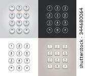 user interface keypad for phone ... | Shutterstock .eps vector #344680064