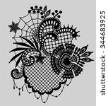 lace. clip art. gothic. | Shutterstock .eps vector #344683925