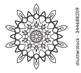 ornament card with mandala.... | Shutterstock .eps vector #344688209