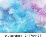 hand painted watercolor... | Shutterstock . vector #344704439