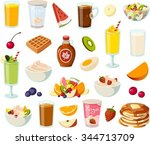 vector illustration of various... | Shutterstock .eps vector #344713709