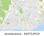 vector city map of lisbon ... | Shutterstock .eps vector #344713919