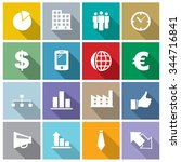 vector business icons set. | Shutterstock .eps vector #344716841