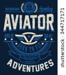 vintage vector airplane ...   Shutterstock .eps vector #344717171