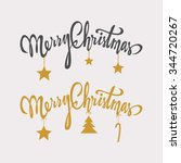 merry christmas handdrawn... | Shutterstock .eps vector #344720267