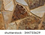 colorful textured rock stone... | Shutterstock . vector #344733629