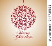 happy merry christmas design ... | Shutterstock .eps vector #344735831