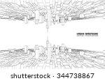 cityscape vector sketch.... | Shutterstock .eps vector #344738867