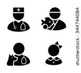 occupations vector icons | Shutterstock .eps vector #344744084