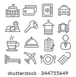 hotel line icons | Shutterstock .eps vector #344755649