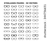 geek glasses vector set | Shutterstock .eps vector #344756651