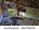 old abandoned ruin factory... | Shutterstock . vector #344758235