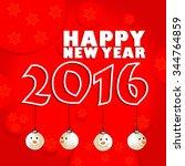 vector design of happy new year ... | Shutterstock .eps vector #344764859