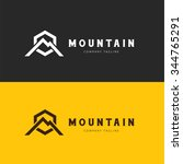 mountain logo template | Shutterstock .eps vector #344765291