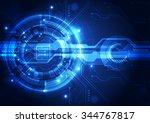 abstract futuristic digital... | Shutterstock .eps vector #344767817