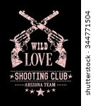 western slogan print for t shirt | Shutterstock . vector #344771504