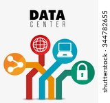 data center security system... | Shutterstock .eps vector #344782655