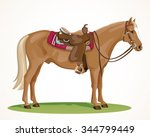 Western Horse With Saddle And...