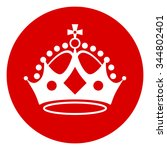 crown on red background. keep... | Shutterstock .eps vector #344802401