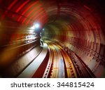 Underground Railway Tunnel Wit...