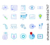 icons set thin line simple logo ...