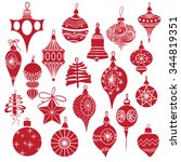 big set vintage  holiday... | Shutterstock .eps vector #344819351