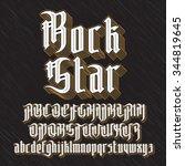 rock star modern gothic style... | Shutterstock .eps vector #344819645