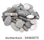 pebble stones on white background - stock photo