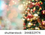 decorated christmas tree  | Shutterstock . vector #344832974