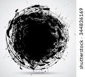 ink splats .grunge urban...   Shutterstock .eps vector #344836169