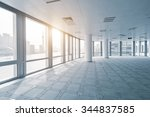 empty office room in modern... | Shutterstock . vector #344837585