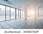 empty office room in modern... | Shutterstock . vector #344837609