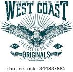 west coast original image... | Shutterstock .eps vector #344837885